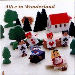 Alice au Pays des Merveilles en perles