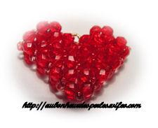 Pendentif en perles en forme de coeur